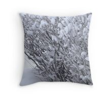 Snowball Bushes Throw Pillow