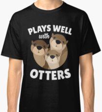 Funny Sea Otter Side Pun Cute Animal Fun Gift Classic T-Shirt