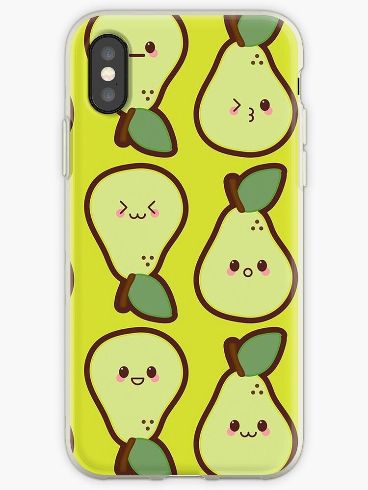 Kawaii Pears Cute Pattern Wallpaper by SusurrationStud