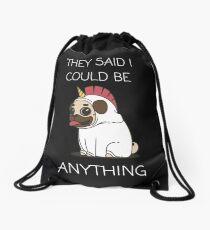 Cute dog unicorn design Drawstring Bag