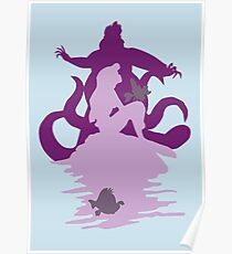 Under The Sea (baby blue) Poster