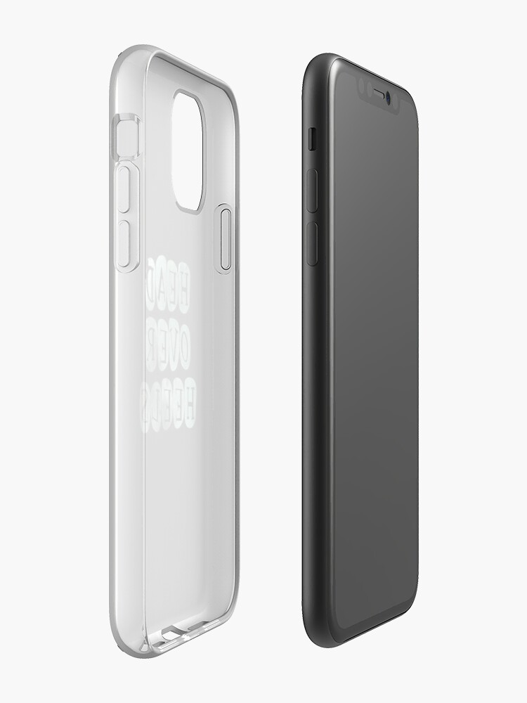 Coque iPhone «Pastel 'Head Over Heels' Typographie Design», par StylishTayla