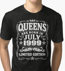 Camiseta de tejido mixto Queens are born in july 1999