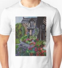 a country cottage garden Unisex T-Shirt