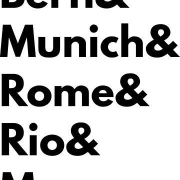 Bern Munich Rome Rio Moscow - Germany Football Fan T-Shirt by geeksta
