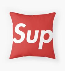 Sup red and white hype Throw Pillow