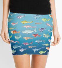 20 Shark Species Size Chart Mini Skirt