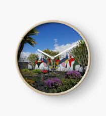 Cesar Manrique Foundation mural wall Lanzarote  Clock