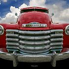 Red Pickup by Keith Hawley