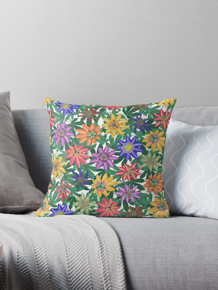 Pattern 78 - Passion Flowers (Green)  by Irene Silvino