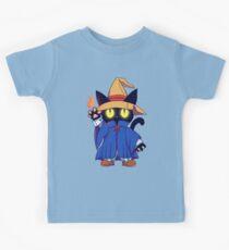 Black mage Fantasy Cat  Kids Tee