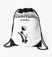 vegan Manneken-Pis brussels Drawstring Bag