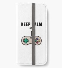 Keep Calm and Game iPhone Wallet/Case/Skin