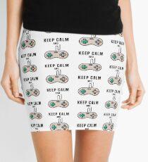 Keep Calm and Game Mini Skirt