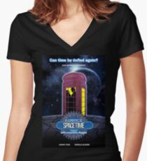 Inspector Spacetime (anotheronetime)  Women's Fitted V-Neck T-Shirt