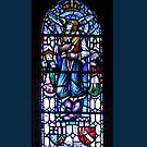 Leadlight window in Rosslyn Chapel, Roslin, Scotland by Bev Pascoe