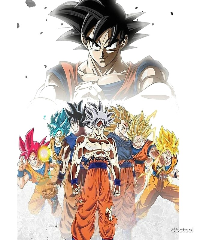 Cool super sayan goku shirt all forms dbz shirt unique dragonball z shirt decal