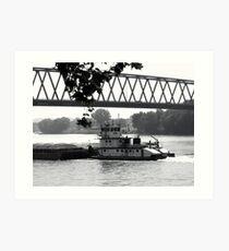 Tug That Barge! Art Print