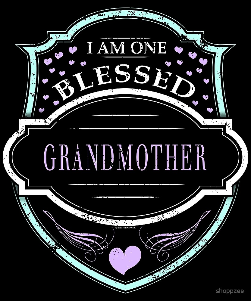 One Blessed Grandmother Shirt Grandma Gifts by shoppzee