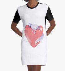 Lotl' Love Purple Graphic T-Shirt Dress