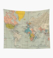 World map wall tapestries redbubble vintage world map wall tapestry gumiabroncs Image collections