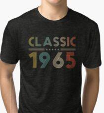 Classic 1965 Vintage Birthday Retro Birthday Gift Tri-blend T-Shirt