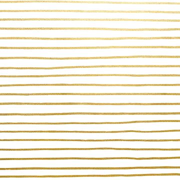 Gold Parisian Stripe Pattern by evannave