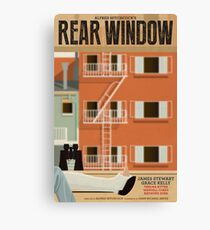 Rear Window alternative movie poster Canvas Print