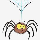 Cute cartoon spider by FrogFactory