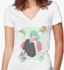Junkfood Girl Women's Fitted V-Neck T-Shirt