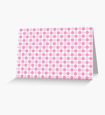 Pink bubble pattern Greeting Card