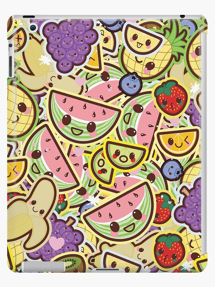 Kawaii Fruit Salad Cute Design Wallpaper Ipad Cases Skins By
