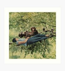 Chilling with the relatives Art Print