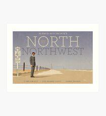 North by Northwest alternative movie poster Art Print