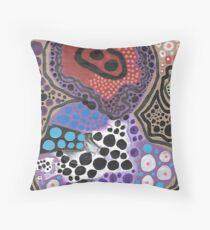 Purple Helmet on Ancient Alien Throw Pillow