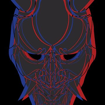 Japanese Demon Mask in Dual Color by ep5ilon