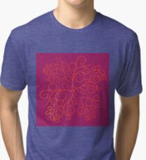 Pink floral ornate Tri-blend T-Shirt