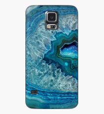 Pretty Teal Aqua Turquoise Geode Crystals Pattern Case/Skin for Samsung Galaxy