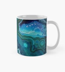 Pretty Teal Aqua Turquoise Geode Crystals Pattern Classic Mug