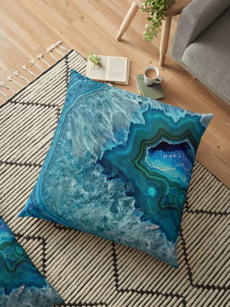 «Pretty Teal Aqua Turquesa Geode Cristales Patrón» de LC Graphic Design Studio
