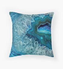 Hübsches aquamarines Aqua-Türkis-Geode-Kristall-Muster Bodenkissen