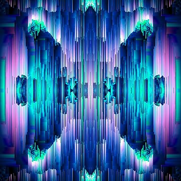 Cavernous Glitch - Abstract Pixel Art by InsertTitleHere