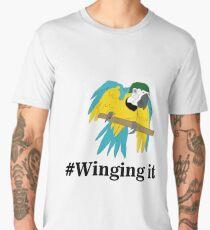 #Winging it Men's Premium T-Shirt
