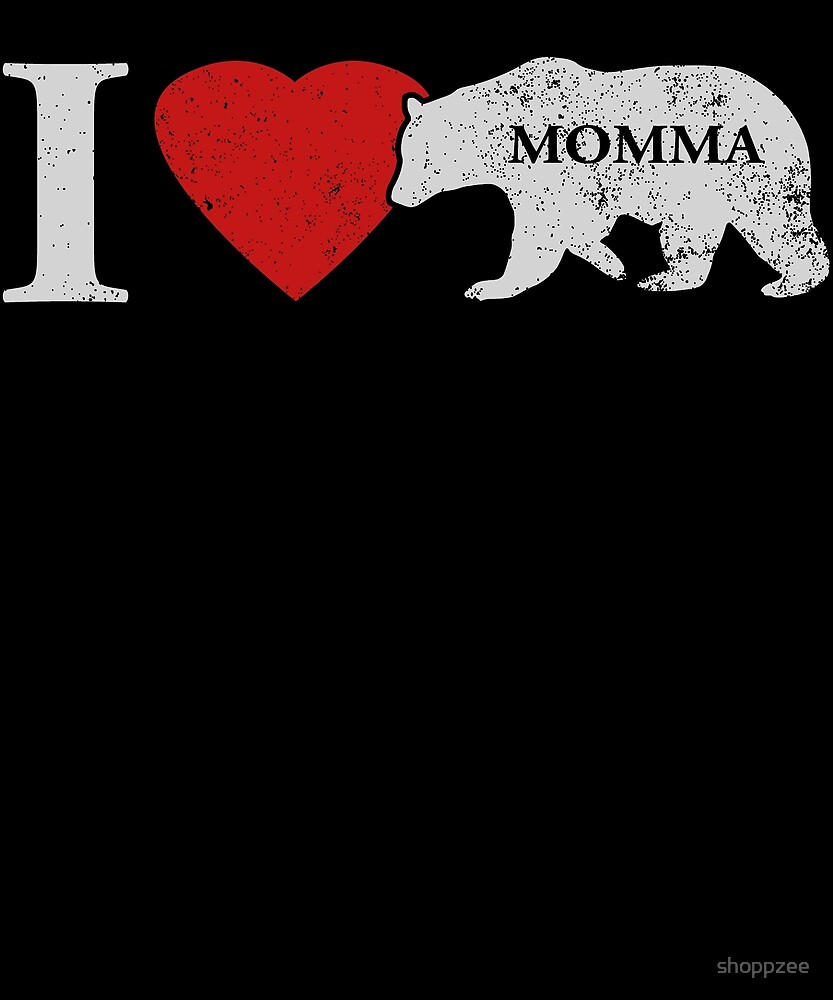 I Love Momma Bear Gifts For Grandkids by shoppzee