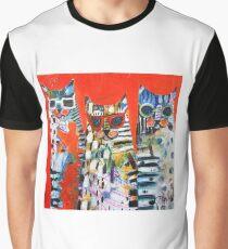 Safari Cats Graphic T-Shirt