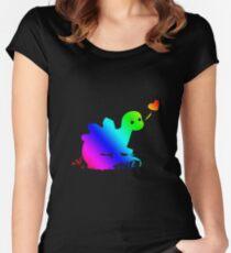 Steve the Stegosaurus Love For All Women's Fitted Scoop T-Shirt