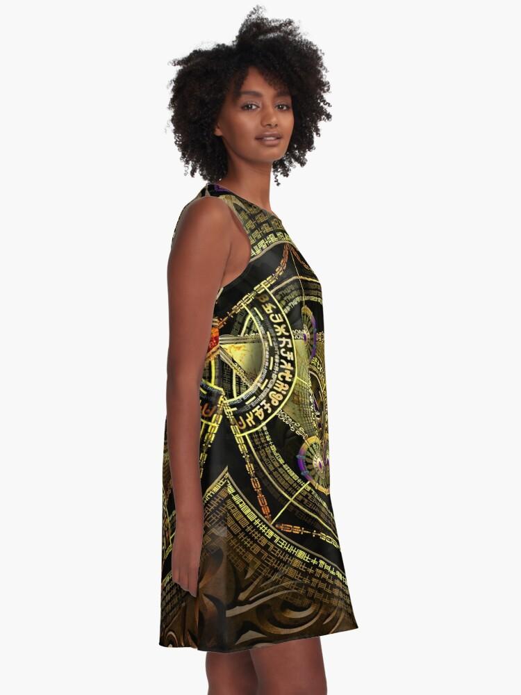 Alternative Ansicht von Arkane Opulenz A-Linien Kleid