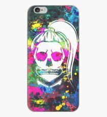 Born This Way Neon Paint Skull iPhone Case