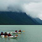 Kayaking on Chilkoot Lake ~ Haines Alaska by Barbara Burkhardt
