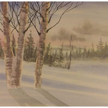 Birch and Winter trees Landscape by PKIDAWMBT
